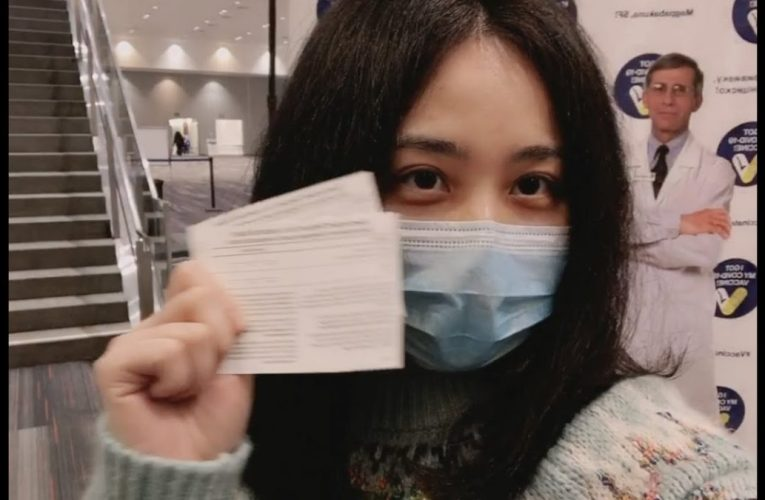 Had the First Dose Pfizer Vaccine at Moscone Center and Hot Pot for Dinner English Subtitles vlog10