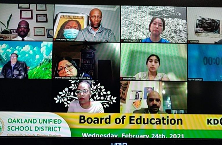 Ms Talmera Richardson speaks at OUSD Board Meeting 2/24/21
