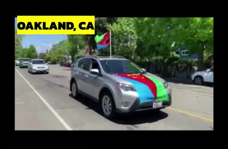 Oakland CA Flag Raising and Car Rally in Celebration of 30th Eritrean Independence Day