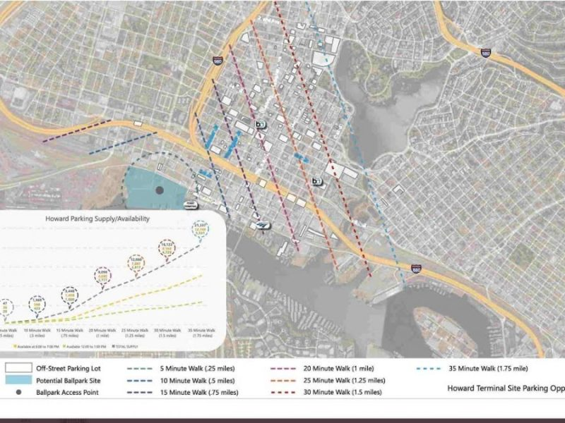 Dave Kaval Tweets Map Of Howard Terminal Ballpark Parking Spots. How About A.C. Transit Shuttle?