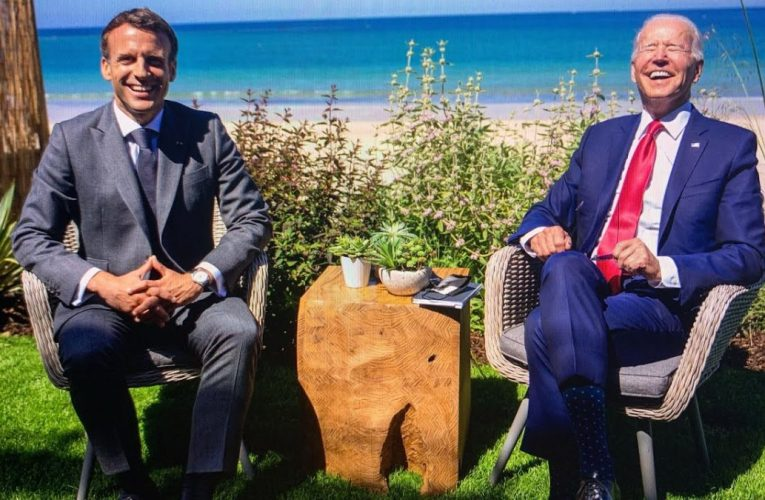 French President Macron Says America Is Back During G7 Summit At Carbis Bay