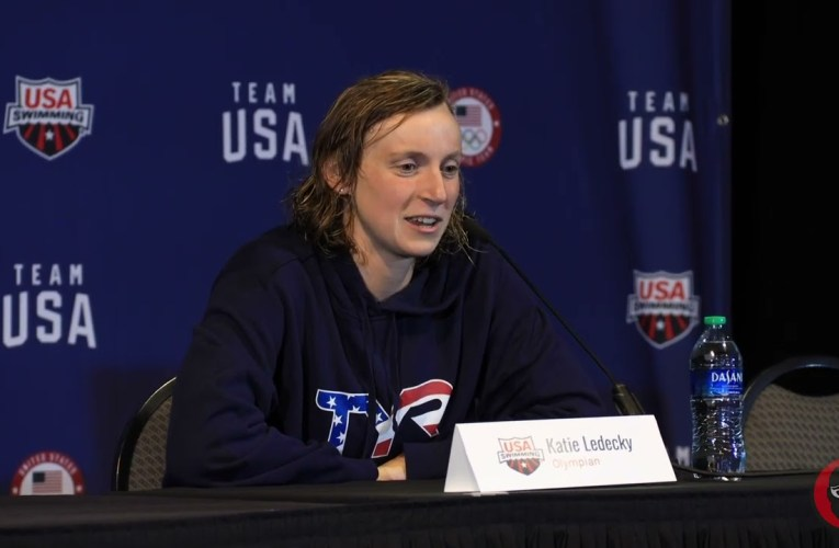 Stanford's Katie Ledecky At 2021 US Olympic Trials Press Conference