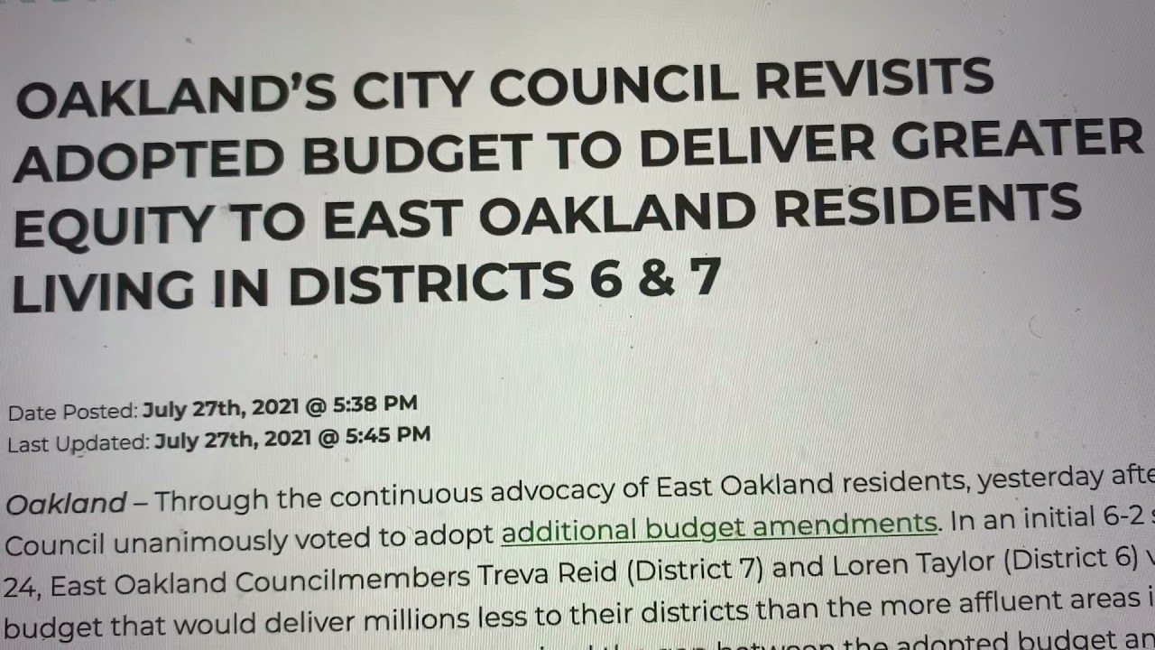 East Oakland Councilmembers Taylor And Reid Must Implement AB 464 Now To Help Small Business - Blog