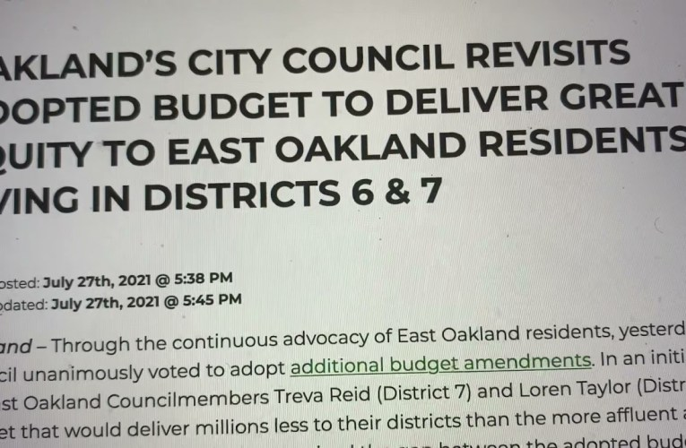 East Oakland Councilmembers Taylor And Reid Must Implement AB 464 Now To Help Small Business