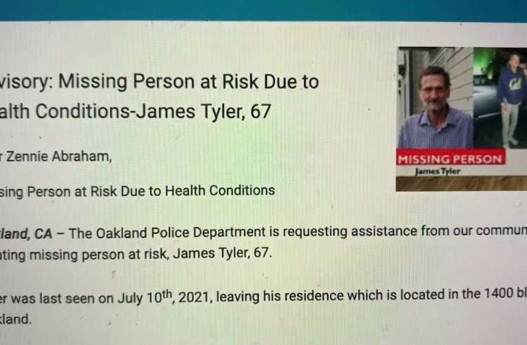 James Tyler – Oakland Police Department Missing Person At Risk Due To Bad Health