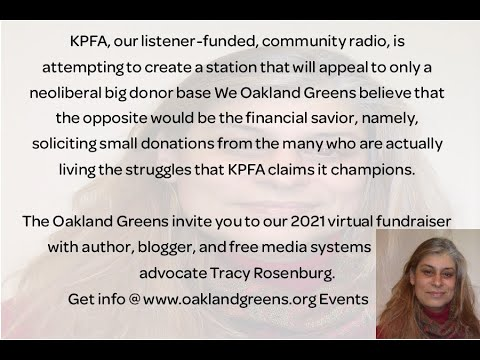 The June monthly public business meeting of the Oakland Greens