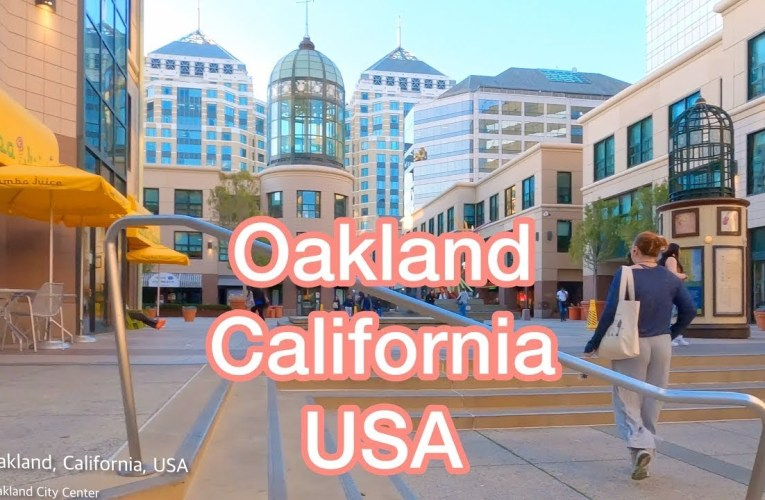 California Oakland 4k, Drone Footage From Above, A Travel Tour UHD