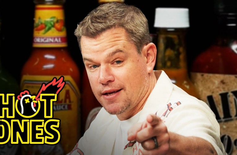 Matt Damon Sweats From His Scalp While Eating Spicy Wings | Hot Ones