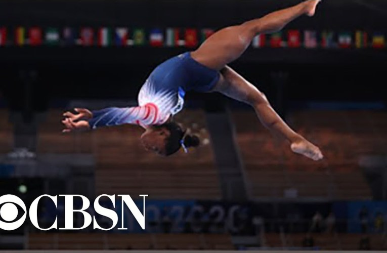 Simone Biles wins bronze medal in balance beam final after taking time off for mental health