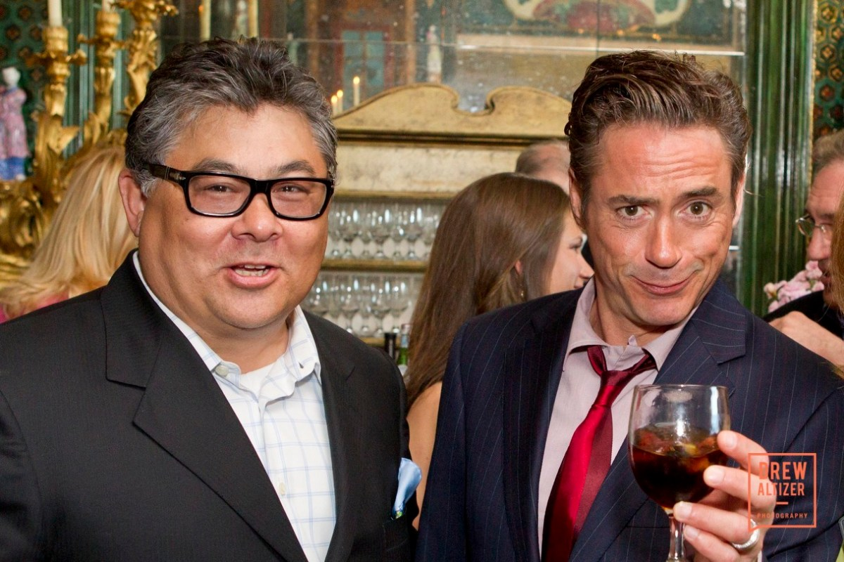 Robert Downey Jr and Phil Tagami at Gordon Getty Host Robert Downey Jr, And Jerry Brown To Benefit Oakland School For The Arts