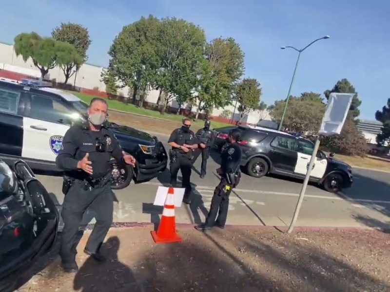 Bay Area Transparency Clashes With Oakland Police At Public Works Annex, Again