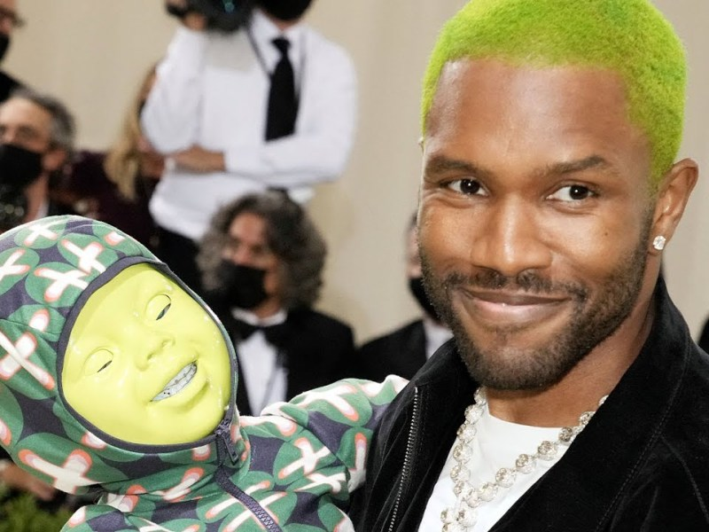 Frank Ocean's Plus One to the Met Gala is an Animatronic Green Baby