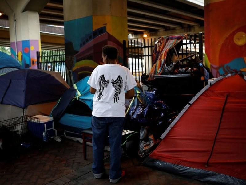In New Orleans Dozens Of The City's Homeless Remain Unsheltered After Hurricane Ida