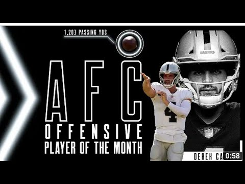 Las Vegas Raiders QB Derek Carr Named AFC Player Of The Month Well Deserved By Eric Pangilinan - Blog