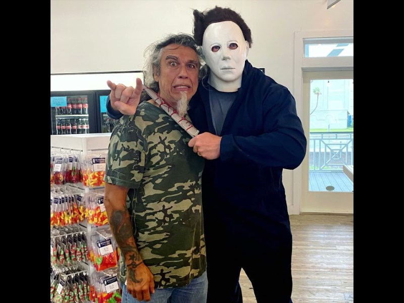 Michael Myers On The Beach As Illegally Portrayed By Texas Lawyer Mark Metzger