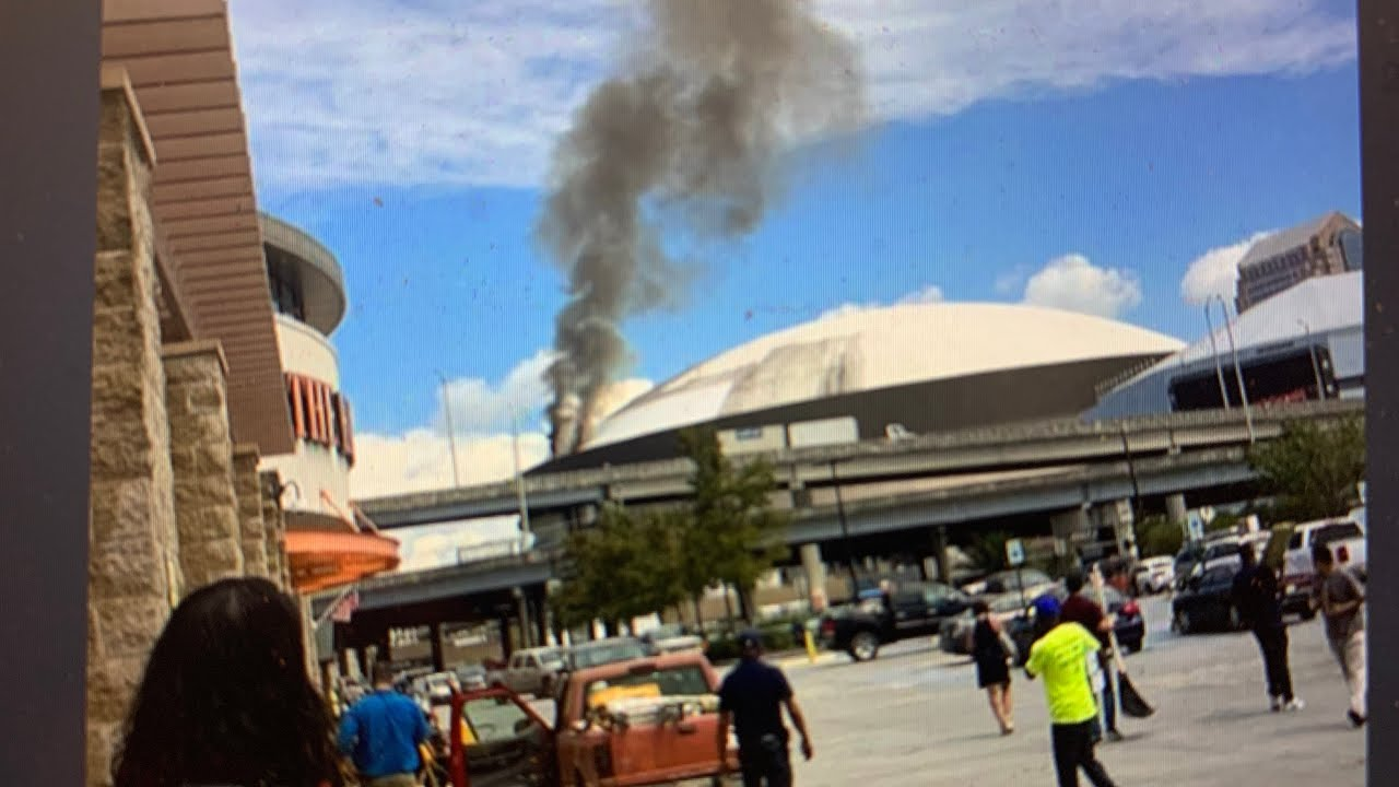New Orleans Saints Caesar's Superdome Roof Fire Reported With Video – Cause Not Known