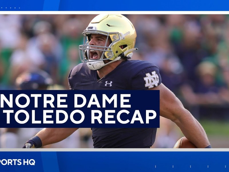 Notre Dame Escapes A Major Upset From Toledo   CBS Sports HQ