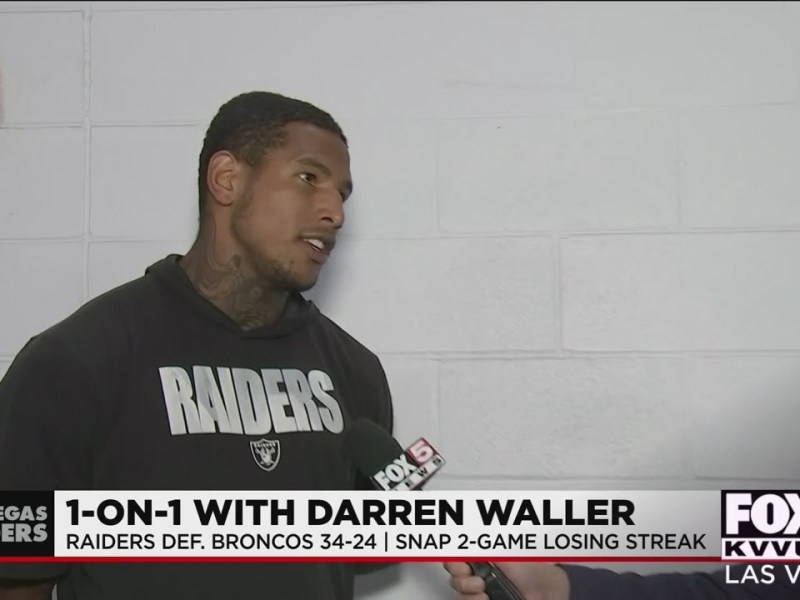 1-on-1 with Raider Darren Waller after defeating Broncos
