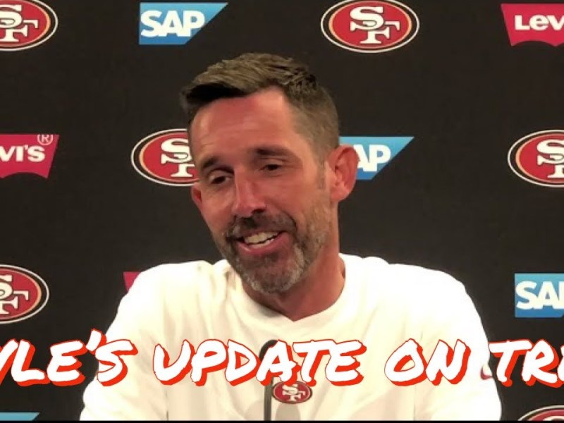 49ers HC Kyle Shanahan Discusses the Latest on Trey Lance's Knee and Readiness to Start