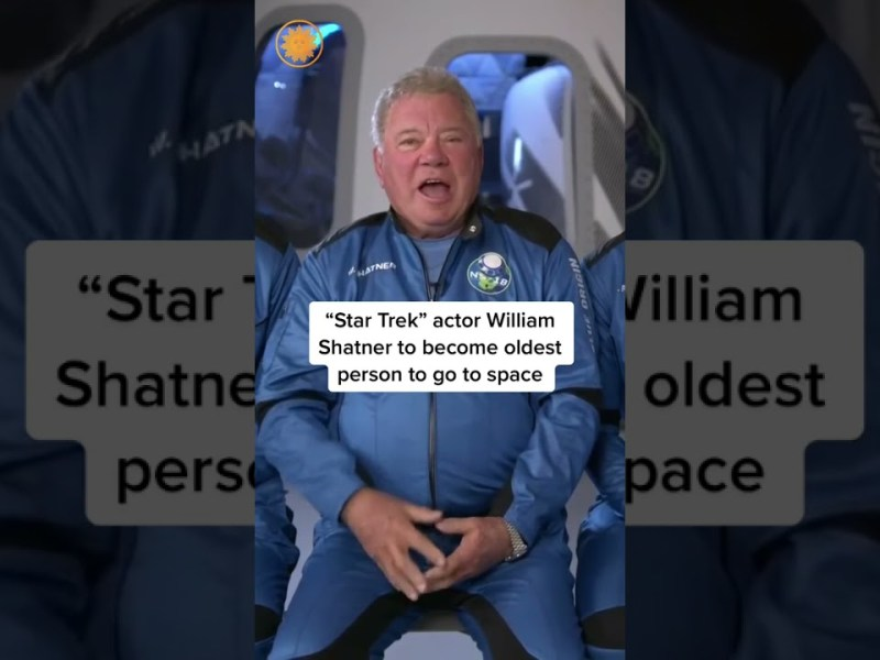 William Shatner will soon become the oldest person in space when he lifts off with blue origin
