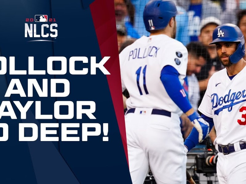 AJ Pollock and Chris Taylor go yard in the 2nd to give the Dodgers a 3-2 lead!