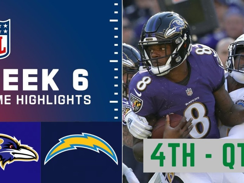 Baltimore Ravens vs. Los Angeles Chargers Highlights 4th – QTR | Week 6 NFL Sunday, October 17,2021