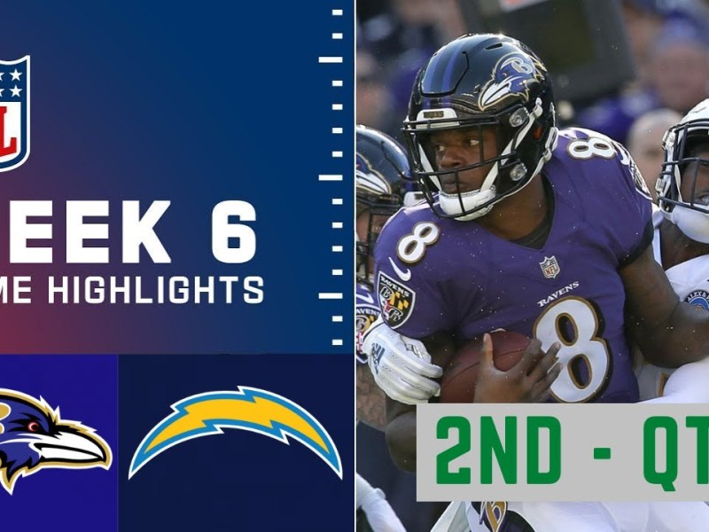 Baltimore Ravens vs. Los Angeles Chargers Highlights 2nd – QTR | Week 6 NFL Sunday, October 17,2021