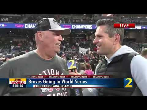 """Brian Snitker on advancing to World Series: """"We did it, Braves country"""""""