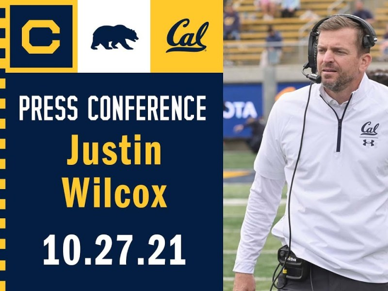 Cal Football: Justin Wilcox Press Conference (10.27.21)