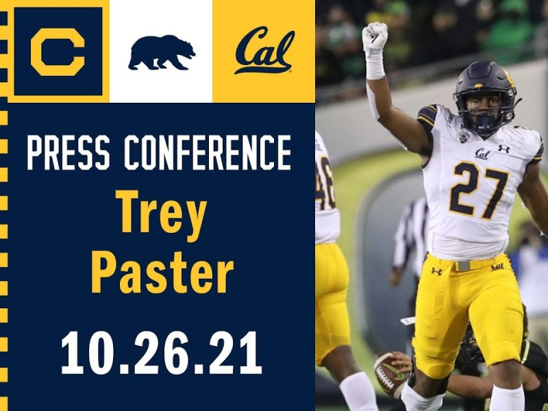 Cal Football: Trey Paster Interview (10.26.21)