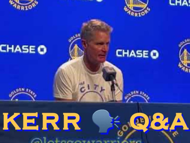 Steve Kerr Full Interview: Andre Wiggins Got Vaccinated; Roles, Playing Rotations