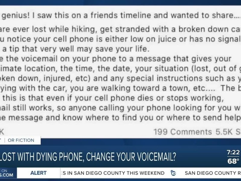 Fact or Fiction: Should you change your voicemail if you get lost with no cell service?