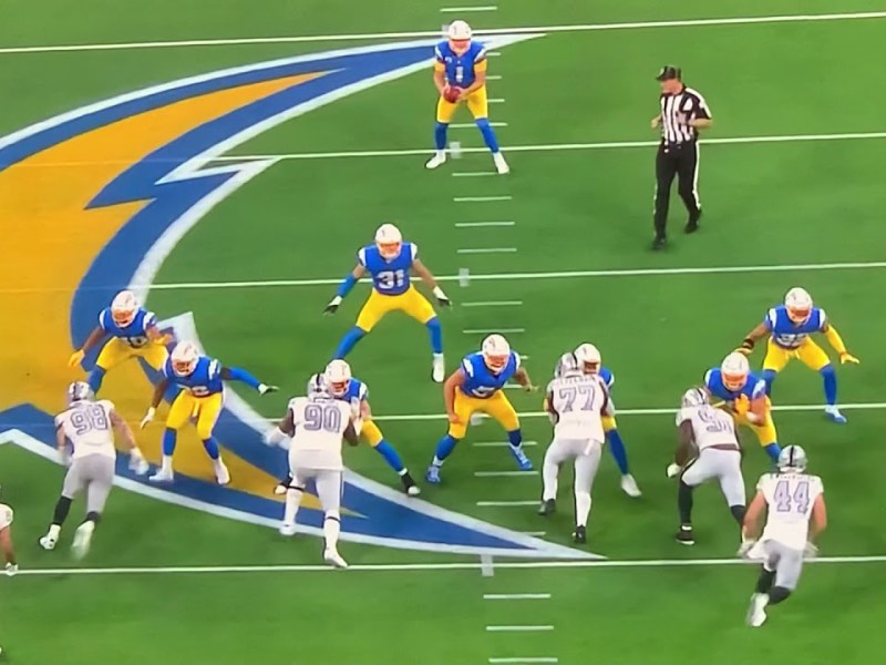 Hunter Renfro's Hit Breaks Up Chargers 4th Down Fake Punt Pass Attempt On Monday Night Football