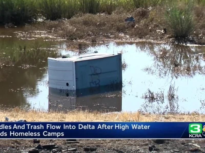 Illegal dumping, encampments in Stockton area of delta cause concern among residents