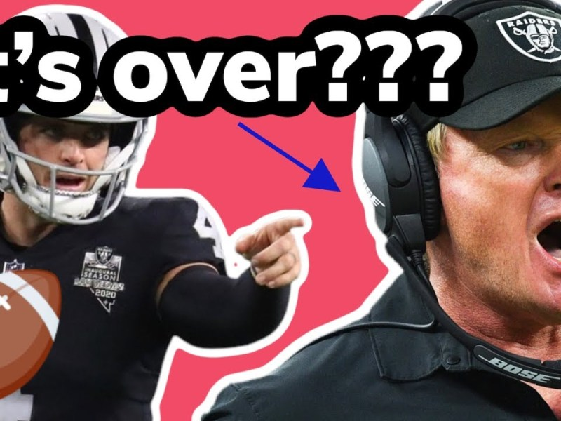 Jon Gruden is GONE (what happens to the Las Vegas Raiders now?)