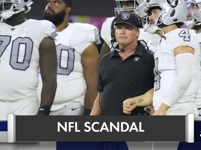 Jon Gruden resigns as Raiders head coach after numerous derogatory emails surface