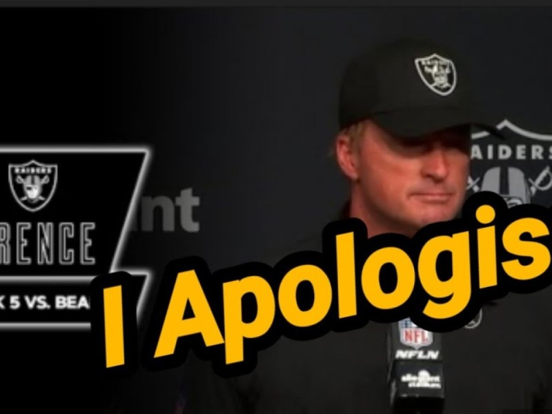 Las Vegas Raiders: Gruden Postgame Apology And My Thoughts About Raiders Week 5 By Joseph Armendariz