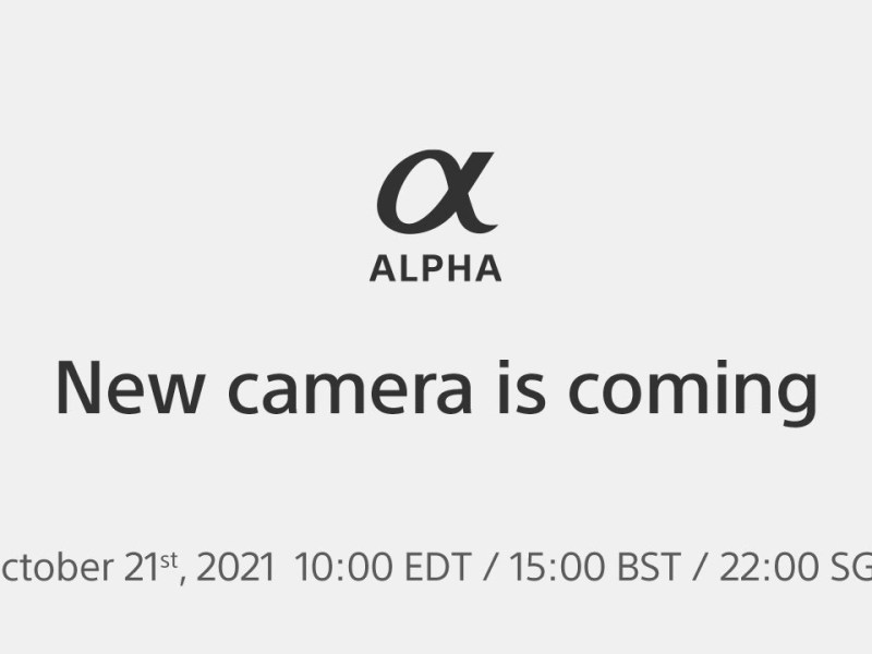 New product announcement on October 21st 2021 | Sony | α