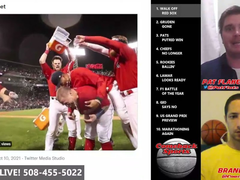 Red Sox ALCS Playoffs WALK OFF Home Run! Boston Red Sox MLB Playoffs COMEBACK SPORTS Flaherty Perry