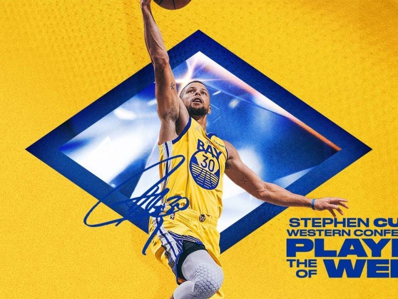 Stephen Curry Named Western Conference Player of the Week!