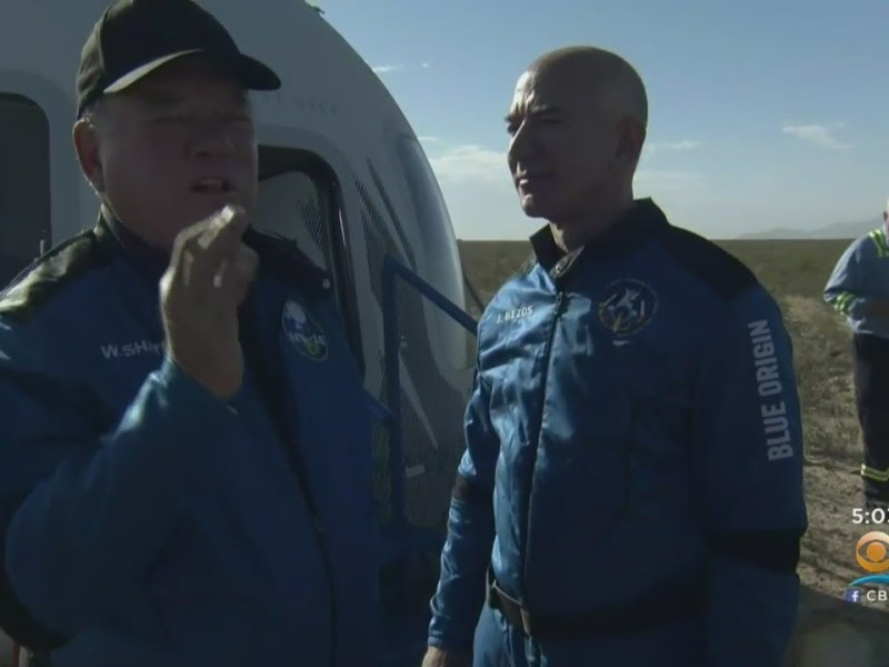 William Shatner Becomes Oldest Person To Reach Space Thanks To Jeff Bezos' Blue Origin