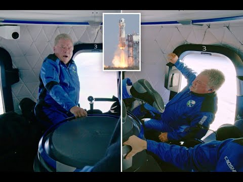 William Shatner checks out the view from space on Blue Origin flight