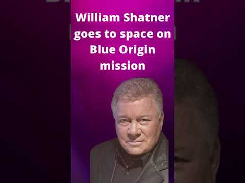 William Shatner goes to space on Blue Origin mission #shorts