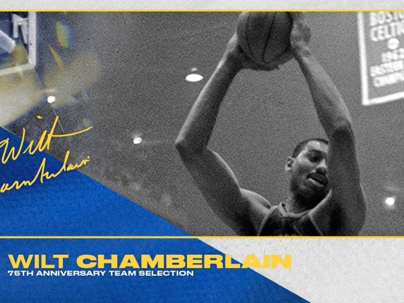 Wilt Chamberlain Named to NBA's 75 Greatest Players of All Time List!