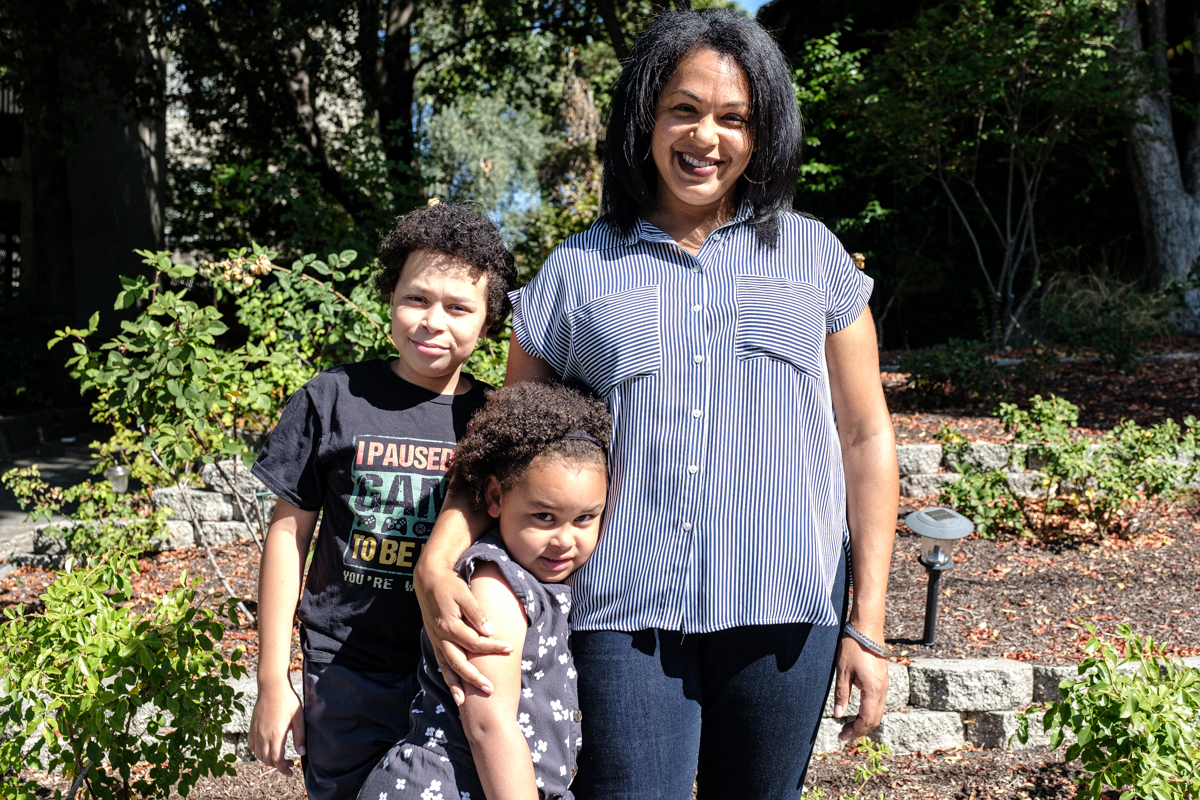 jamila brooks and her children