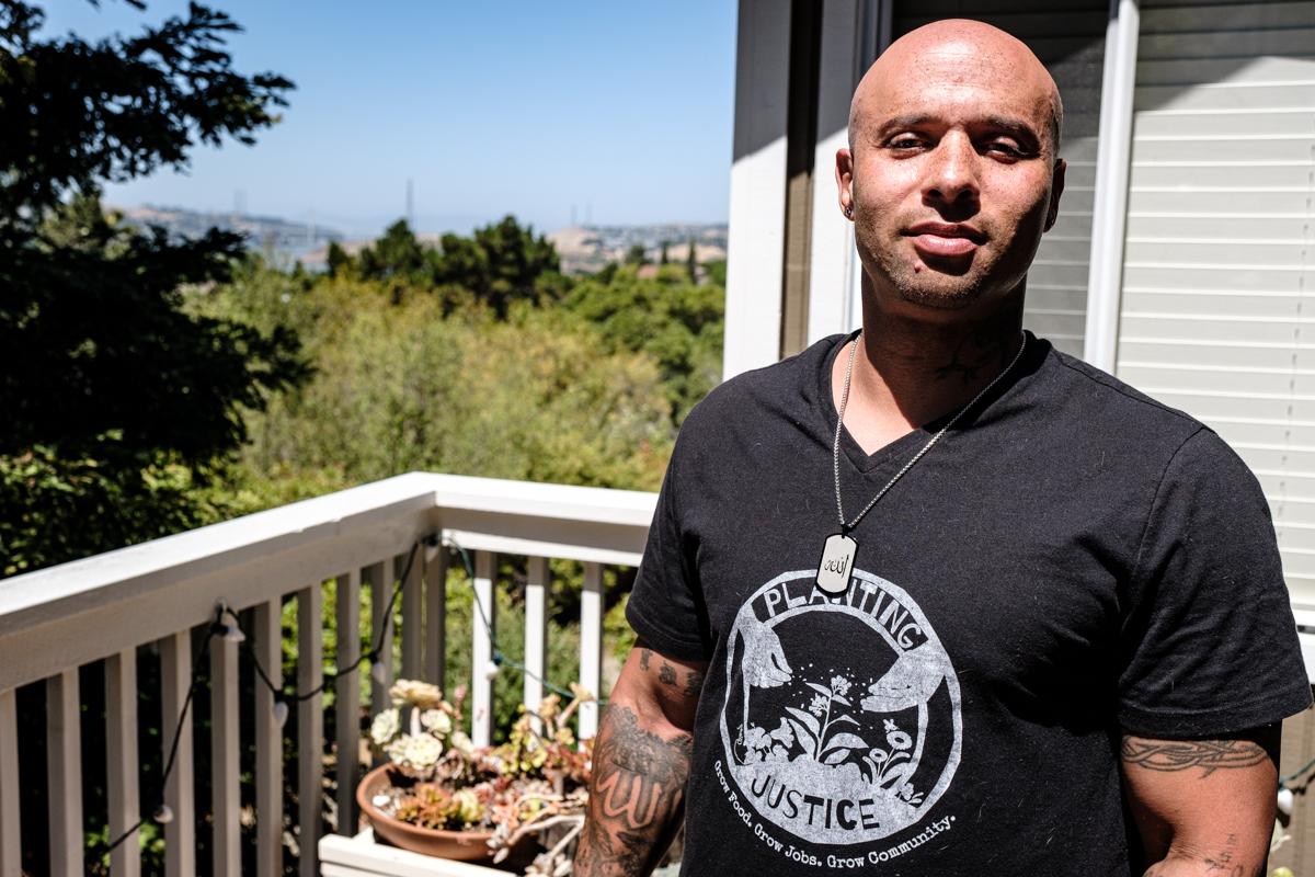 Rasheed Lockheart at home in Oakland, CA