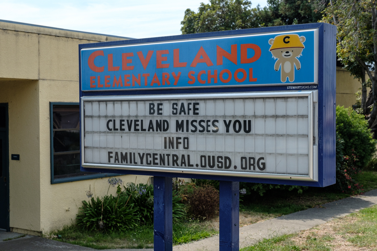 cleveland elementary school marquee