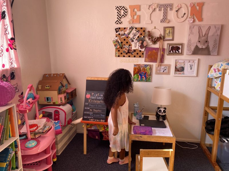 little girl in her bedroom