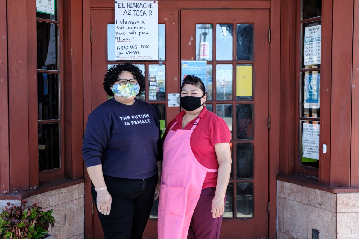 Mayra Chavez and her mother Eva Saavedra co-run El Huarache Azteca, a restaurant in Fruitvale that serves Mexico City-style food.