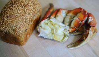 Half marinated crab with nori loaf from Sister in Oakland. Photo: Sister